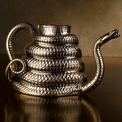 Sahara Teapot with Silver Plating