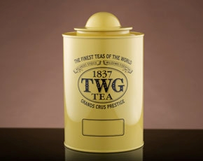 Saturn Tea Tin in Yellow (250g)