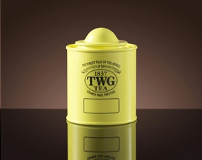 Saturn Tea Tin in Canary Yellow (50g)