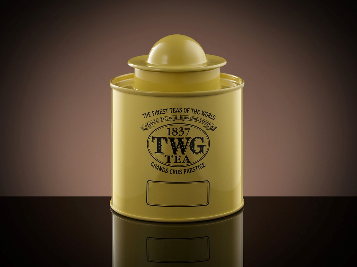 Saturn Tea Tin in Yellow (100g)