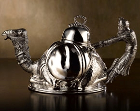 Emir Teapot in Sterling Silver (700ml)